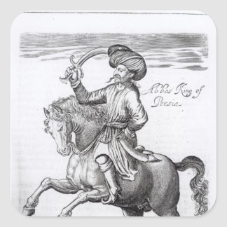 Abbas, King of Persia Square Sticker