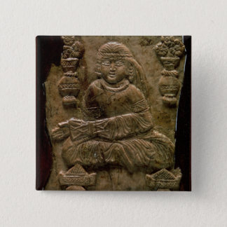 Abbasid Plaque, Iraq or Iran, 12th century (ivory) 15 Cm Square Badge
