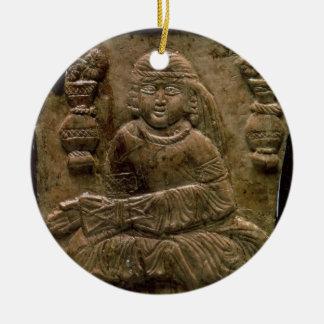 Abbasid Plaque, Iraq or Iran, 12th century (ivory) Christmas Ornament