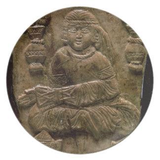 Abbasid Plaque, Iraq or Iran, 12th century (ivory) Dinner Plates