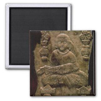 Abbasid Plaque, Iraq or Iran, 12th century (ivory) Square Magnet