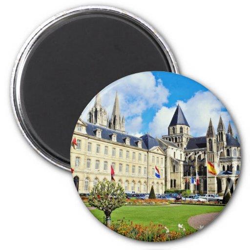 Abbaye Aux Hommes, Caen, Calvados, Normandy, Franc 6 Cm Round Magnet
