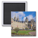 Abbaye Aux Hommes, Caen, Calvados, Normandy, Franc Square Magnet