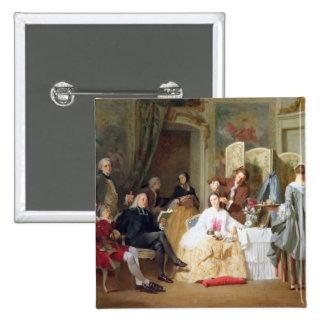 Abbe Prevost reading 'Manon Lescaut', 1856 15 Cm Square Badge