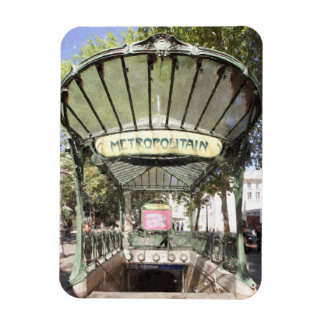 Abbesses Metro, Montmartre, Paris Rectangular Photo Magnet