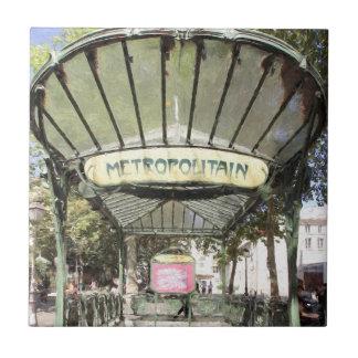 Abbesses Metro, Montmartre, Paris Tile