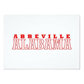Abbeville, Alabama Design 13 Cm X 18 Cm Invitation Card