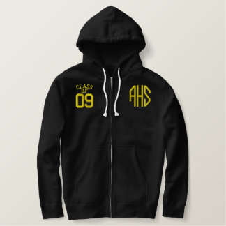 Abbeville High School Embroidered Zip Hoodie