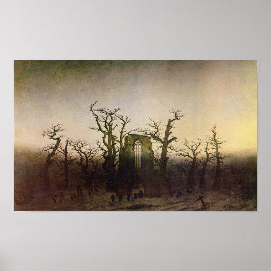 Abbey in an Oak Forest by Caspar David