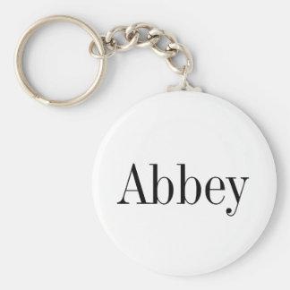 Abbey Name Key Chain