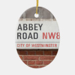 Abbey Road London Ceramic Oval Decoration