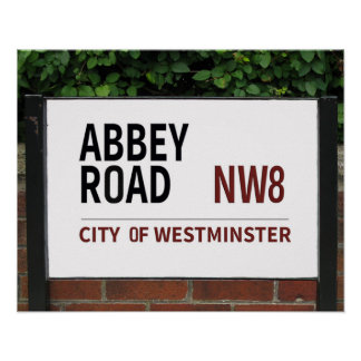abbey road london england sign poster