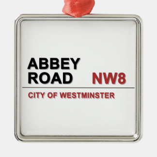 Abbey Road London England - vintage Silver-Colored Square Decoration