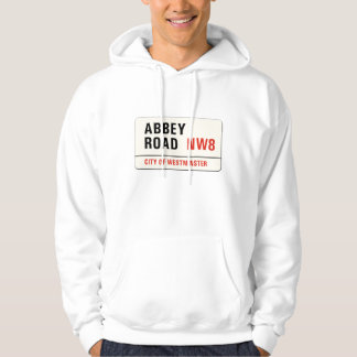 Abbey Road, London Street Sign Hoodie