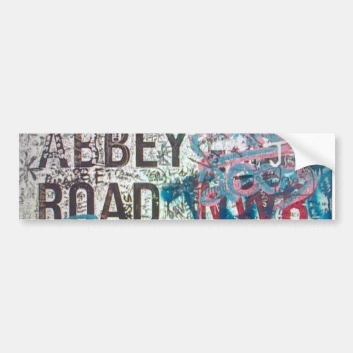Abbey Road Sign Bumper Stickers