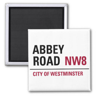 Abbey Road Sign Refrigerator Magnet