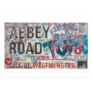 Abbey Road Sign Postcard