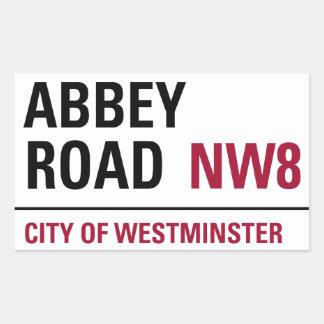 Abbey Road Sign Rectangular Sticker