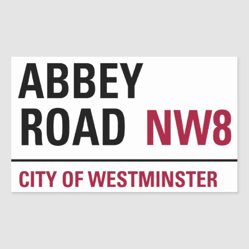 Abbey Road Sign Rectangular Stickers