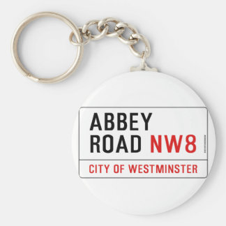 Abbey Road Street Sign Key Ring