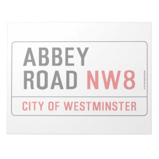 Abbey Road Street Sign Notepad
