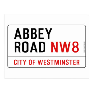 Abbey Road Street Sign Postcard