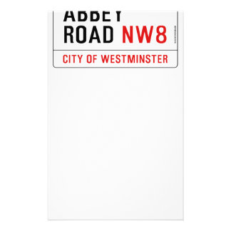 Abbey Road Street Sign Stationery
