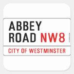 Abbey Road Street Sign Sticker