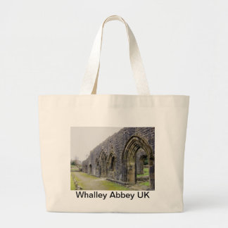 Abbey ruins tote bags
