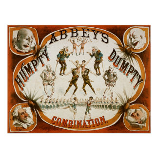 Abbey s Humpty Dumpty Combination Circus Posters