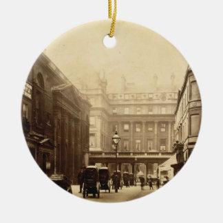 Abbey Square and Pump Rooms, Bath, c.1880 (b/w pho Christmas Ornament
