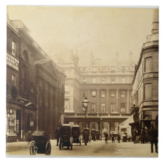 Abbey Square and Pump Rooms, Bath, c.1880 (b/w pho Large Square Tile