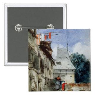 Abbey St-Amand, Rouen (w/c, bodycolour and pencil 15 Cm Square Badge