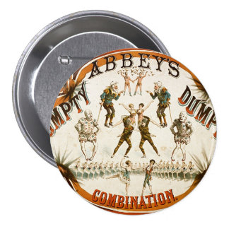 Abbey's Humpty Dumpty Combination Circus Poster 7.5 Cm Round Badge