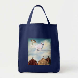 Abbie Goes to the Circus Grocery Tote Bag