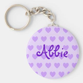 Abbie in Purple Key Ring