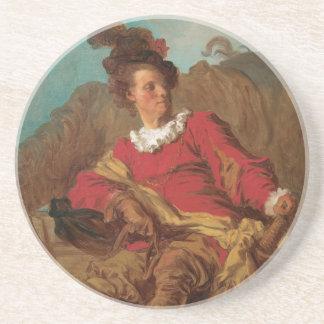 Abbot Dressed as Spaniard by Fragonard Coasters