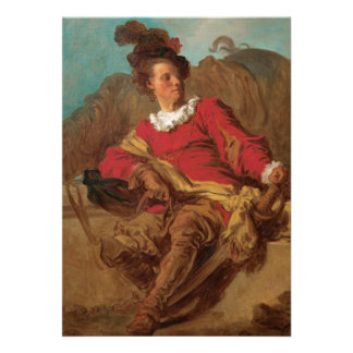 Abbot Dressed as Spaniard by Fragonard Personalized Announcements