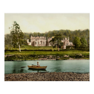 Abbotsford House from the River Tweed in Scotland Poster