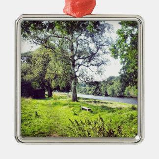 Abbotsford Silver-Colored Square Decoration