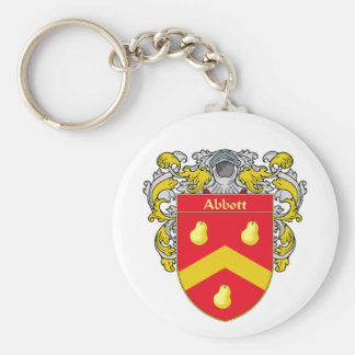 Abbott Coat of Arms (Mantled) Keychains