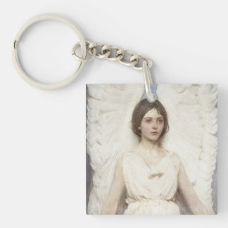 Abbott Handerson Thayer - Angel Single-Sided Square Acrylic Key Ring