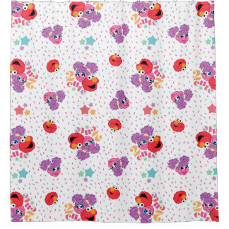 Abby And Elmo 2 Cute Pattern Shower Curtain