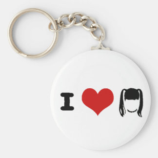 abby basic round button key ring