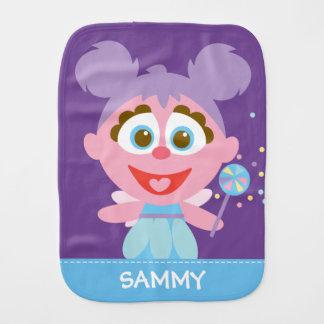 Abby Cadabby Baby   Add Your Name Burp Cloths
