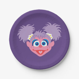 Abby Cadabby Face Paper Plate