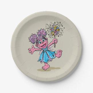 Abby Cadabby Retro Art Paper Plate