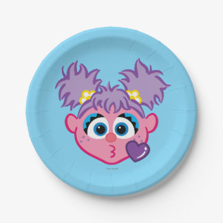 Abby Face Throwing a Kiss 7 Inch Paper Plate