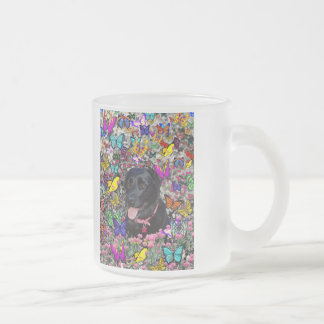 Abby in Butterflies - Black Lab Dog Mugs