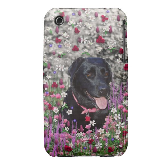 Abby in Flowers – Black Lab Dog Case-Mate iPhone 3 Case